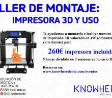 Taller de Montaje de Impresora 3D y Uso